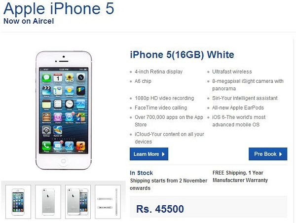 Apple-iPhone-5-Pre-order-Aircel