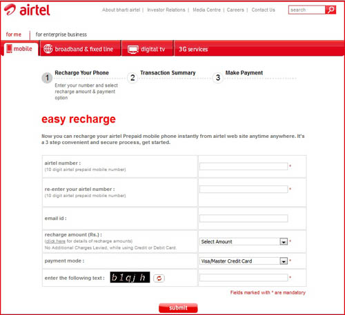 Airtel Phone Number Search