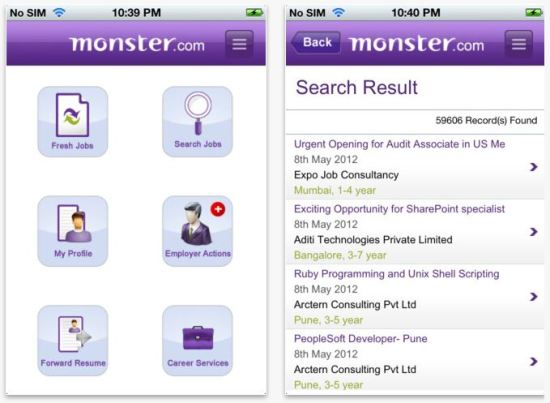 Monster Launches Its Job Search App On The Ios Platform