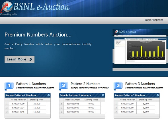 bsnl-premium-number-website-auction