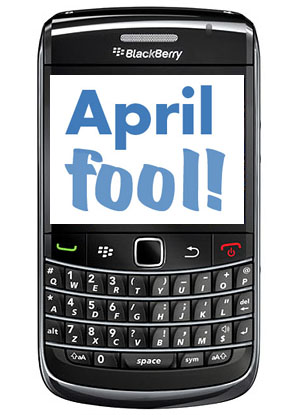 April Fools' apps for BlackBerry devices