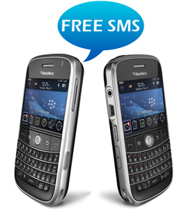 Send free SMS from your BlackBerry via the 'Free Message(SMS) India' app