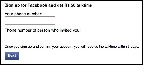 Facebook-Talktime-Offer-India
