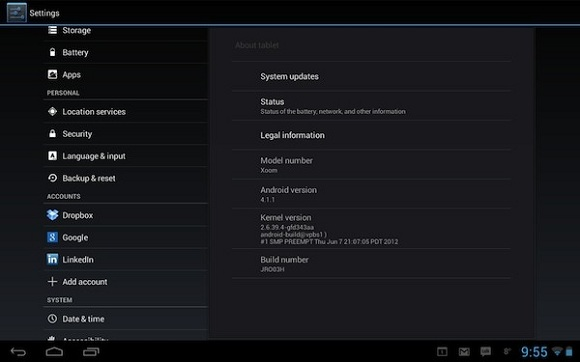 Motorola Xoom Wifi Jelly Bean