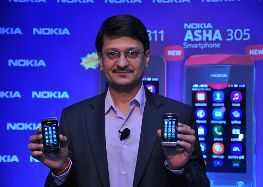 Nokia Asha 305 and Asha 311 in India to its existing range of Asha