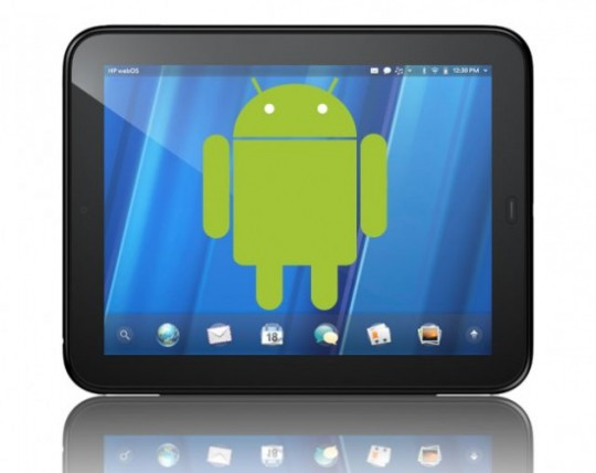 HP TouchPad Android logo