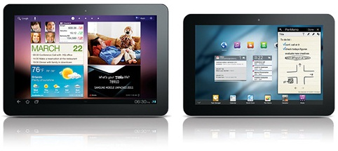 galaxy tabs 10 and 8