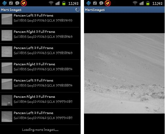 Check out actual images of Mars on your Smartphone