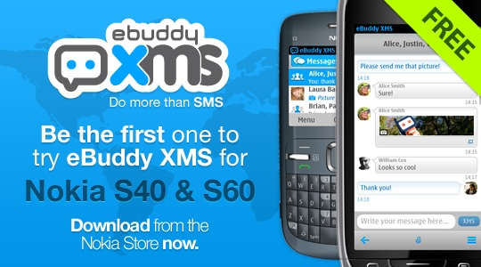 eBuddy XMS now available in Nokia Store