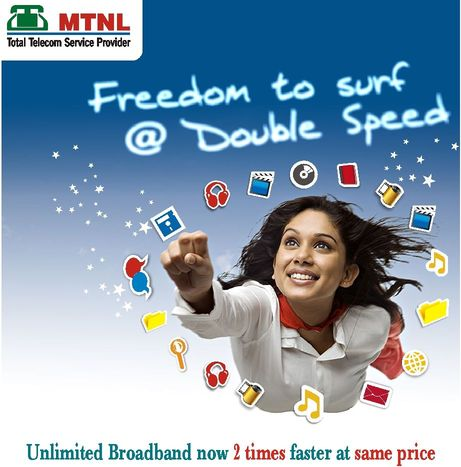 mtnl delhi intros high speed unlimited broadband combo plans