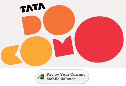 Tata DOCOMO online recharge : Pay by your current Mobile Balance