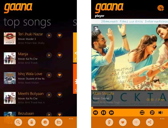 Gaana-windows-phone2
