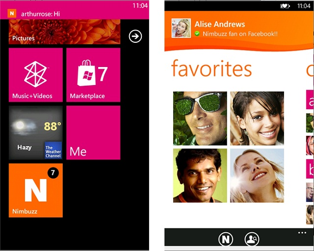 Nimbuzz Windows Phone 8