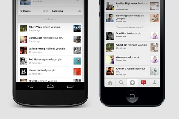 Pinterest for android and ios gets updated with push for Pinterest download