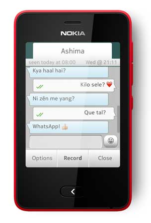 whatsapp messenger now available for nokia asha 501 nokia announced
