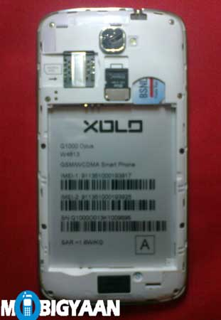XOLO Q1000 Opus internal
