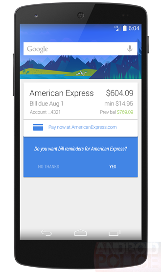 Google Now Billing