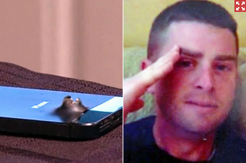 iPhone 5S saves soldier's life