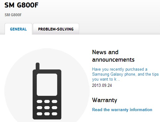 Samsung-SM-G800F-S5-Mini-support-page