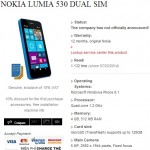 Nokia Lumia 530 specs leak, Dual SIM and 512 MB RAM in tow