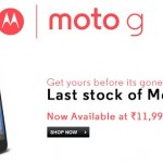 Moto G heading for retirement in India; Last stock of 16 GB available for Rs. 11999