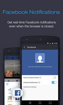 UC Browser Facebook notifications