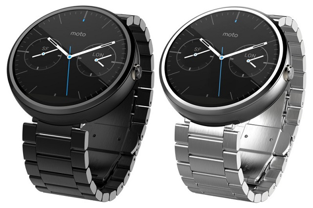 Moto 360 smartwatch with stainless steel bands launched in ...