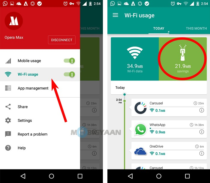 How to save Mobile Data using Opera Max (2)