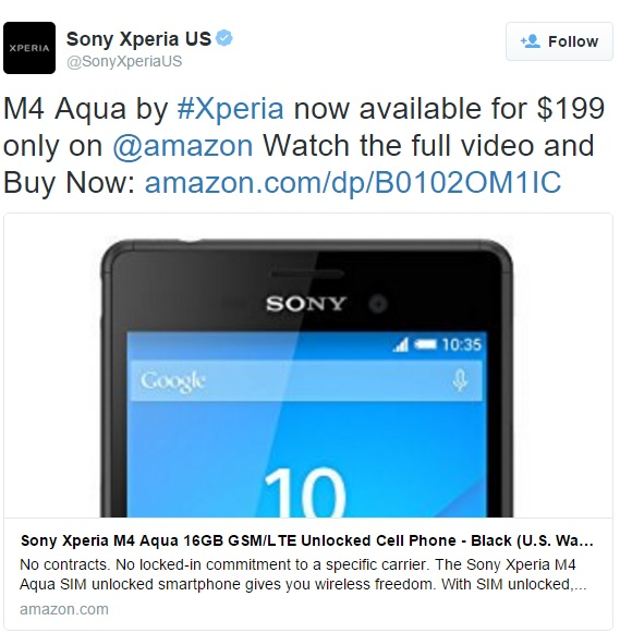 sony-xperia-m4-aqua-official-us-launch-tweet