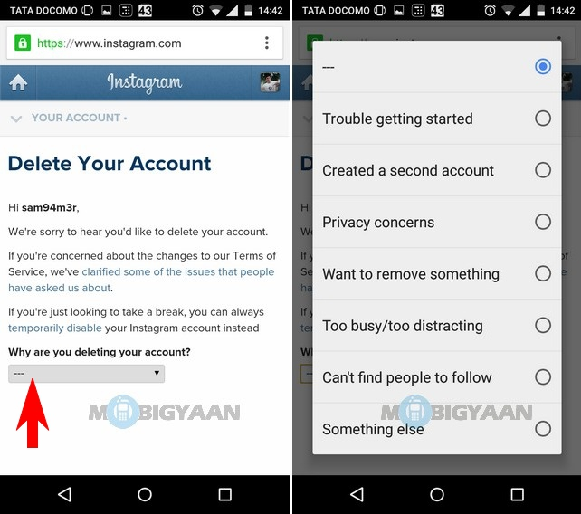 How to delete instagram account ios android guide how to delete instagram account ios android guide ccuart