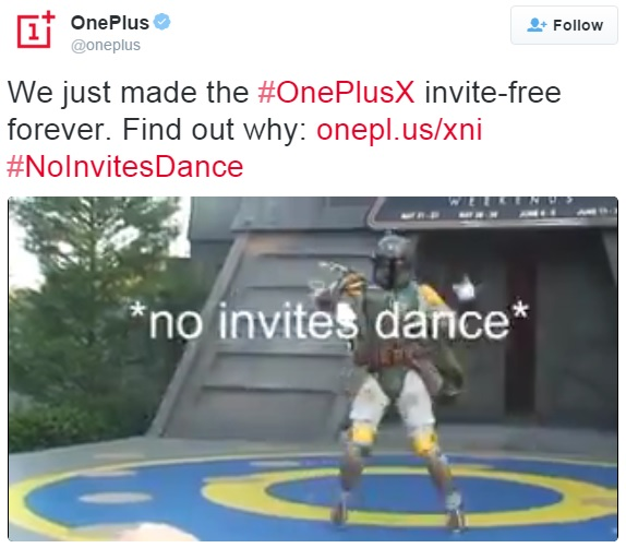 oneplus-x-invite-free-forever-official-tweet