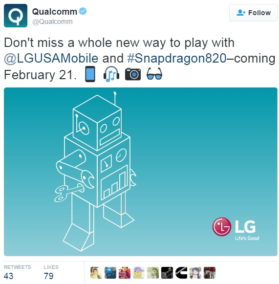 lg-g5-snapdragon-820-confirmation-qualcomm-tweet
