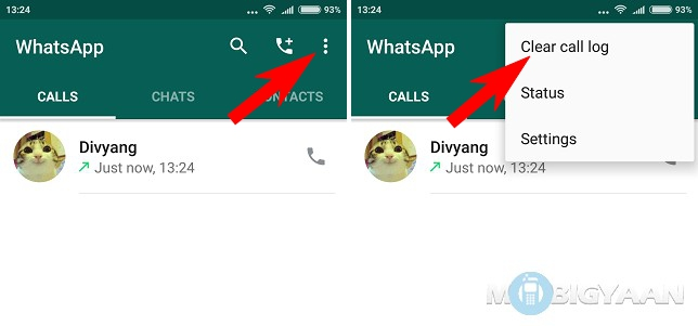 How To Clear Whatsapp Call Logs Android Guide
