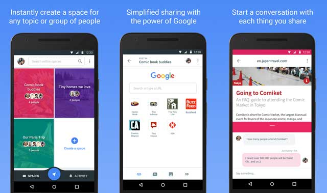 Google-Spaces-app