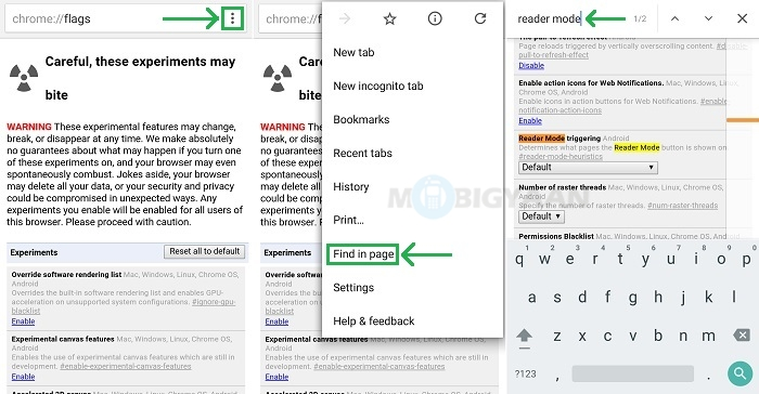 How to enable Reader Mode in Google Chrome for Android
