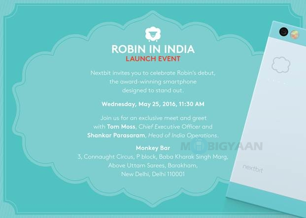 nextbit-robin-india-launch-invite