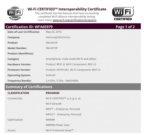 samsung-galaxy-a9-pro-wifi-certification