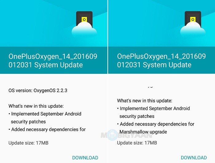 OnePlus X receiving OxygenOS 2 2 3 update with September