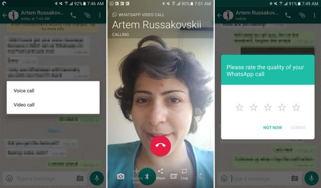 WhatsApp starts rolling out video calling feature