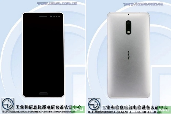 nokia-6-silver-variant-tenaa-front-rear-view