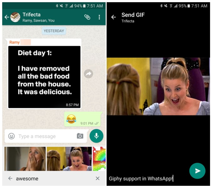 WhatsApp for Android gets support for GIF search WhatsApp for Android gets support for GIF search
