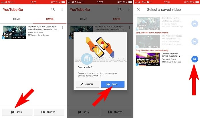 How to share YouTube Videos offline using YouTube Go How to share YouTube Videos offline using YouTube Go How to share YouTube Videos offline using YouTube Go