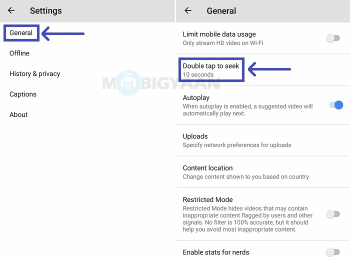 How to change seek time for double to tap to seek on YouTube [Android Guide] How to change seek time for double to tap to seek on YouTube [Android Guide] How to change seek time for double to tap to seek on YouTube [Android Guide]