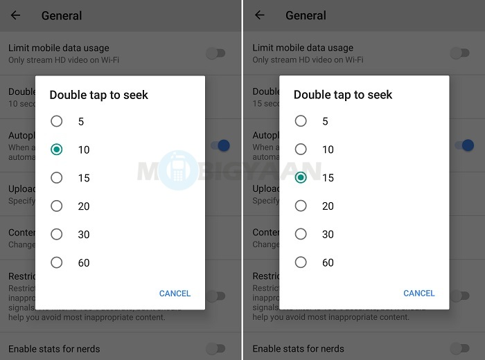 How to change seek time for double to tap to seek on YouTube [Android Guide] How to change seek time for double to tap to seek on YouTube [Android Guide] How to change seek time for double to tap to seek on YouTube [Android Guide] How to change seek time for double to tap to seek on YouTube [Android Guide]