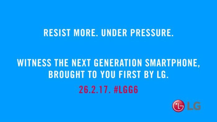 LG teases G6 to be dust and water resistant