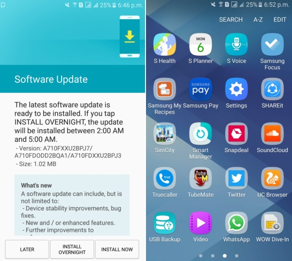 Latest update brings Samsung Pay app to Galaxy A7 (2016) in