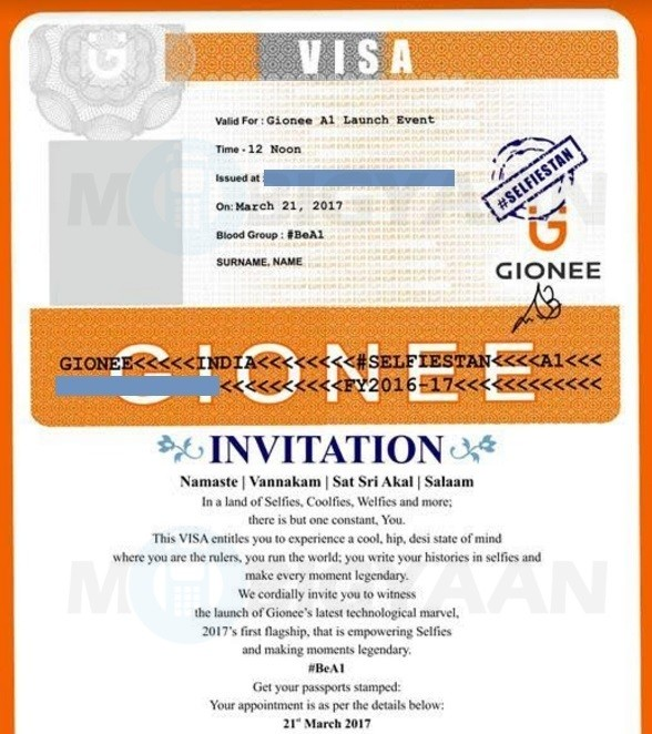 gionee-a1-india-launch-invite