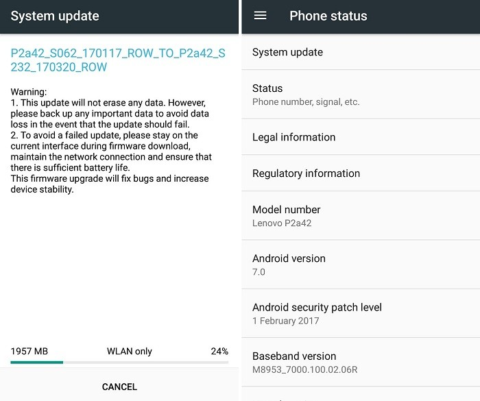lenovo-p2-android-7-nougat-update-india