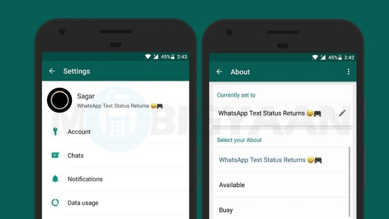 How to set text status on WhatsApp [Android Guide]