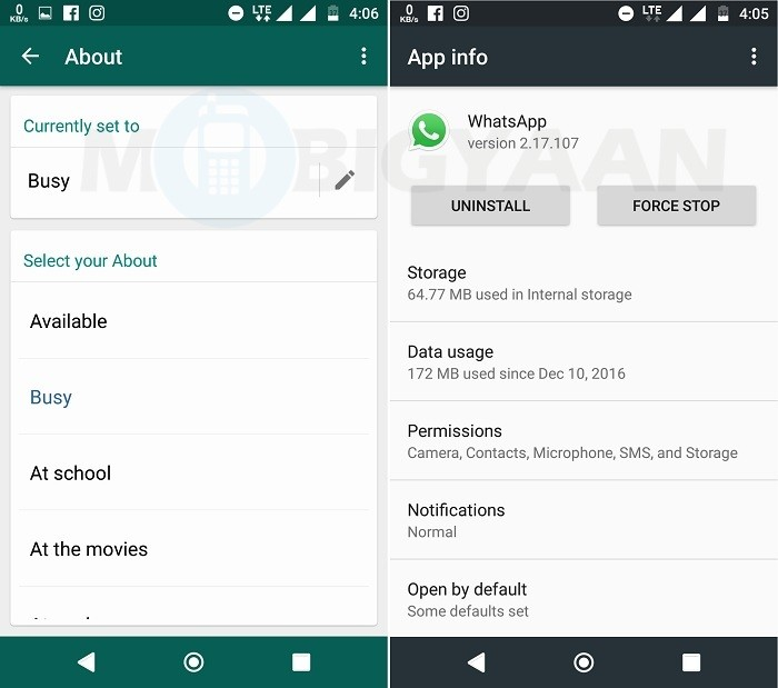 WhatsApp officially begins rolling out old text based status to Android users with a new name